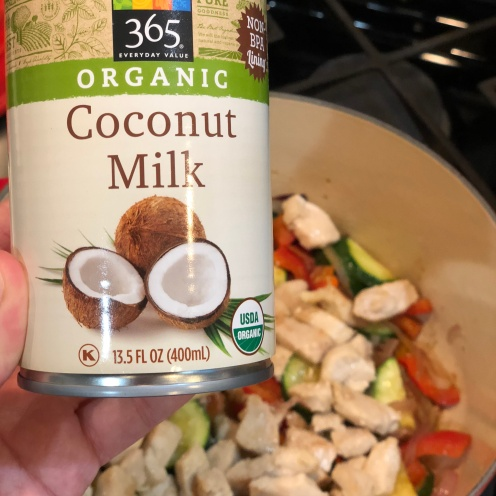 Thai Green curry prepr_coconut milk