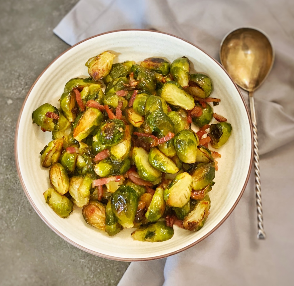 Brussels spouts with maple syrup