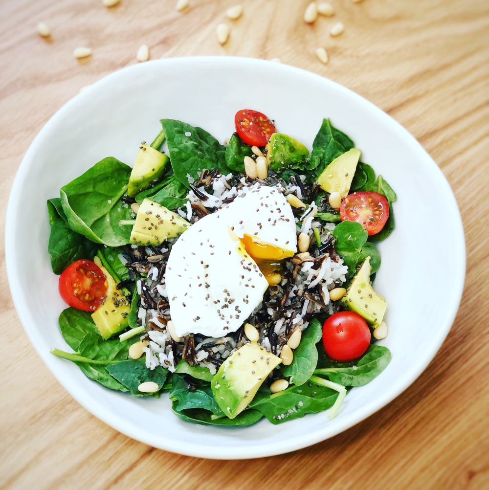 Poached eggs_salad
